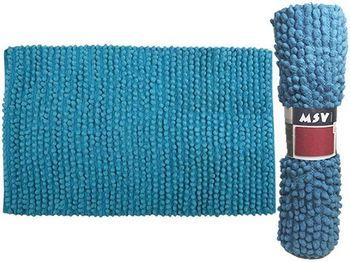 Коврик для ванной комнаты 50X80cm голубой, хлопок