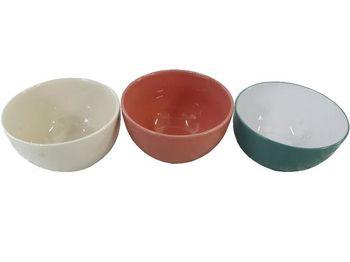 Салатница 14cm разных цветов, керамика