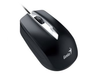 купить Mouse Genius DX-180, Optical, 800-1600 dpi, 3 buttons, Ambidextrous, Black, USB в Кишинёве