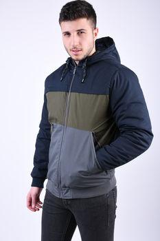 Куртка STITCH&SOUL Темно синий/хаки/серый H6145A44427A