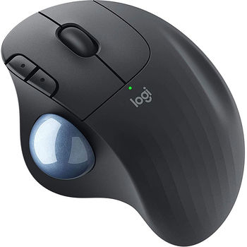 Мышь беспроводная компьютерная  Logitech Wireless Mouse ERGO M575 Trackball Graphite, 5 buttons, Bluetooth + 2.4GHz, Optical, 200-2000 dpi, Unifying receiver, Graphite 910-005872