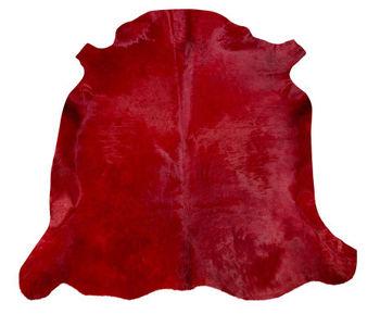 Ковер из натуральной кожи COW DIED RED SKIN, красный