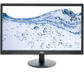 "23.6"" AOC LED e2470swhe Black (1ms, 20M:1, 250cd, 1920x1080, HDMI, DVI, Headphone out, Speakers)"