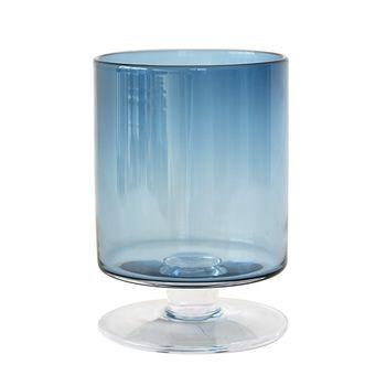 Стеклянная ваза - темно-синий DS2421