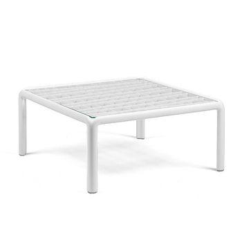 Столик кофейный Nardi KOMODO TAVOLINO VETRO BIANCO 40368.00.501 (Столик кофейный для сада и террасы)