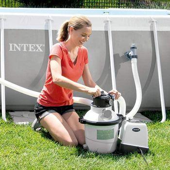 купить Intex песочный фильтр насос с хлоргенератором Кrystal Clear 10000 л/ ч в Кишинёве