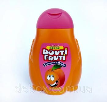 Gel de duș pentru copii + șampon Pasteque Douti Fruti (piersică) 300 ml