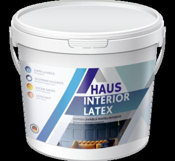 Краска водоэмульсионная интерьерная Haus Latex 4 кг
