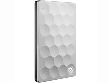"2.5"" 1TB External HDD Seagate Backup Plus Ultra Silm Portable ( STEH1000200 ), Platinum, USB 3.0 (hard disk extern HDD/внешний жесткий диск HDD)"