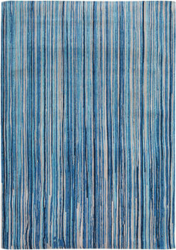 Covor fabricat manual LOUIS DE POORTERE Atlantic Blue Stripes 8485