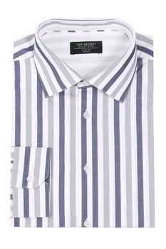 Рубашка TOP SECRET Белый в полоску skc2711