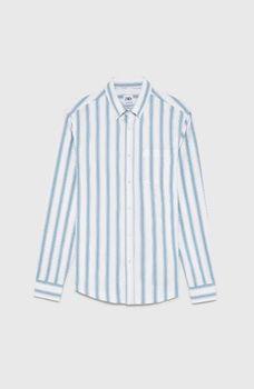 Рубашка ZARA Белый в голубую полоску zara 6608/308/250