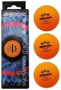 купить Мяч для настольного тенниса Donic 3 stars *** yellow ITTF Approved (339) в Кишинёве