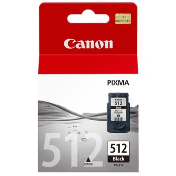 Cartridge Canon PG-512, Black 15ml - high capacity for MP230/240/250/252/260/270/272/280/282/480/490/492/495/499, MX320/330/340/350/360/410/420, iP2700/2702