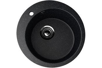 Раковина каменная Ulgran U-405 чёрный 495 x 495 x 190 мм