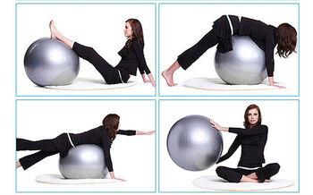 Мяч гимнастический с насосом d=65 см S124-15 MRKT (2776)