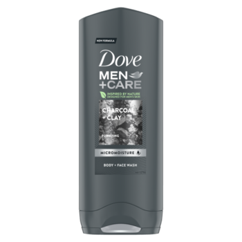 Гель для душа Dove Men Care Charcoal+Clay, 250 мл