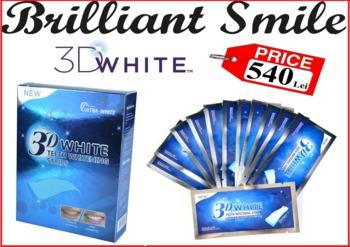 cumpără Benzi pentru Albire - 3D White Teeth Whitening Strips (28 buc.) în Chișinău