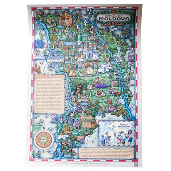 купить Плакат - Here's MOLDOVA! в Кишинёве