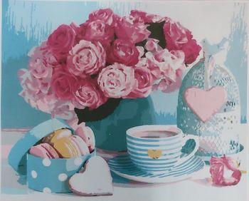 "PN7457 Картина по номерам Artissimo ""Stil Provence"", 4 *, 18 цветов, 50x60 см"