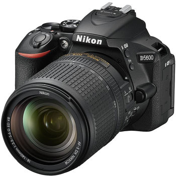 Nikon D5600 kit AF-S 18-140VR black, 24.2Mpx CMOS 23,2x15,4mm; ISO up to25600; EXPEED 4; Full HD(60p); GPS;  No Optical low Pass Filter;  Bluetooth 4.1 with SnapBridge; Wi-Fi; 2xAntiDust System; LiveView; VBA500K002
