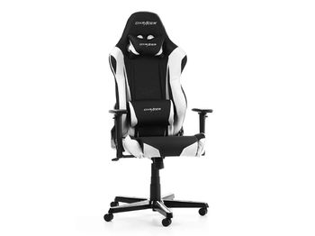 Gaming Chair DXRacer Racing GC-R0-NW, Black/White, User max loadt up to 150kg / height 165-195cm