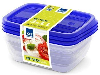 Набор емкостей пищевых Vedo 3шт, 1l, 19X14X6cm