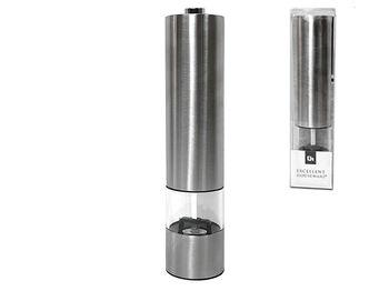 Мельница для перца на батарейках EH, D5cm, H22cm, нерж сталь
