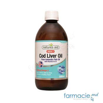 купить Cod Liver Oil Pur - Omega-3 1190mg 500ml Natures Aid в Кишинёве