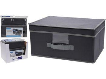 Коробка для хранения 39X29X19cm тканевая с крышкой