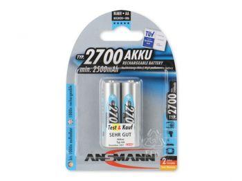 Ansmann AA NiMH 2700mAh, 2pack (blister)