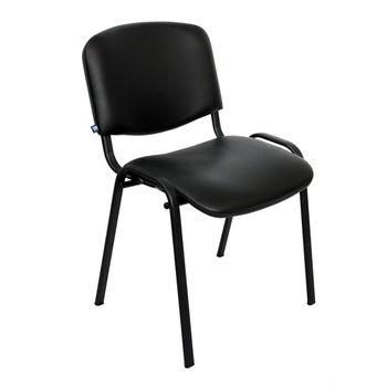 cumpără Scaun de conferință fără braț ISO V-4, negru (piele) în Chișinău