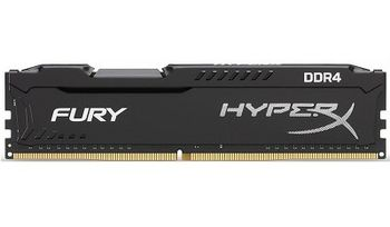 4GB DDR4-2933  Kingston HyperX® FURY DDR4, PC23400, CL17, 1.2V, Auto-overclocking, Asymmetric BLACK heat spreader, Intel XMP Ready (Extreme Memory Profiles)