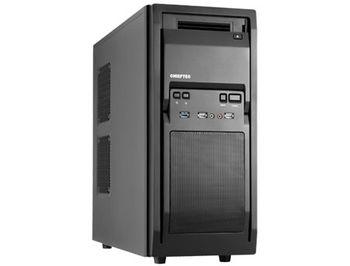 Case ATX Miditower Chieftec Libra LF-02B-OP Black no PSU, 2x USB 2.0, 1x USB 3.0, Mic-in, Audio-out, 1x 120mm fan (at the back), HDD rails (carcasa/корпус)