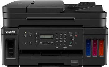MFD Canon Pixma G7040, A4 Color Printer/Duplex/Scanner/Copier/Network/Wi-Fi/Fax, APD 35, Print 4800x1200dpi_2pl, Scan 1200x2400dpi, ESAT 13/6.8 ipm, LCD display 6.2cm, Tray 350 sheet, 4 ink tanks:(3*GI-40PGBK/,GI-40C,GI-40M,GI-40Y)18k b/w; 7,7k c.;