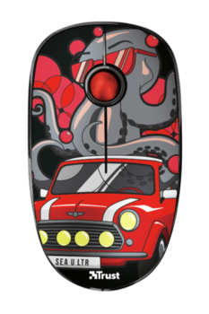 Wireless Mouse Trust Sketch Silent, Red