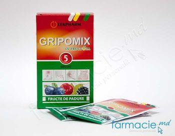 cumpără Gripomix cu fructoza (fructe de padure) pulb./sol. orala 10g N5 în Chișinău