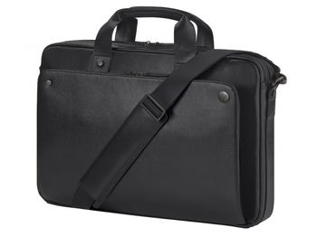 """HP NB bag 15.6"""" - Executive Top Load;  lockable, double-teeth zippered notebook compartment, top zip closure and exterior pocket with easy access; Black"""