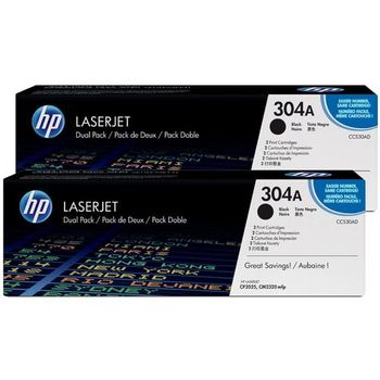HP №304A Pack of 2 Black Cartridges, LJ CP2025 / CM2320, ColorSphere Toner, 3500 pages per cartridge