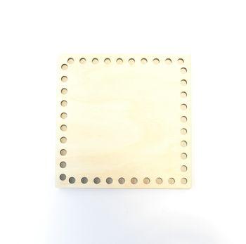 Formă din lemn pătrat, 15 cm