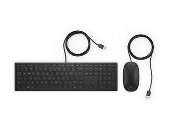 HP Pavilion Wired Keyboard and Mouse 400, Black