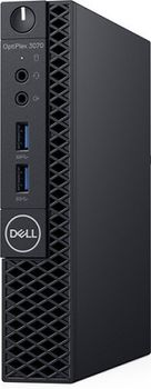 DELL OptiPlex 3070 MFF (lntel® Core® i3-9100T, 4GB (1X4GB) DDR4, M.2 128GB PCIe NVMe SSD, no ODD, lnteI® UHD630 Graphics, Wi-Fi/AC-MU-MIMO/BT4.1, TPM, 65W PSU, USB mouse MS116 , USB KB216-B, Win10Pro, Black)