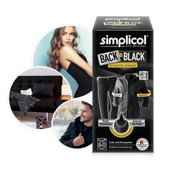 купить SIMPLICOL Back-to-Black Краска для окрашивания и восстановления цвета одежды в стиральной машине (чёрный), 750г в Кишинёве