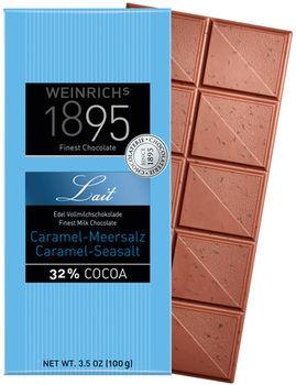 Ciocolată fină cu lapte și caramelă și sare de mare Weinrichs 1895 100g