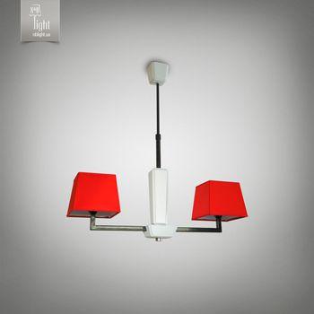 купить N&B Light Люстра Атланта 14105-2 красный, черная структура/белое дерево в Кишинёве