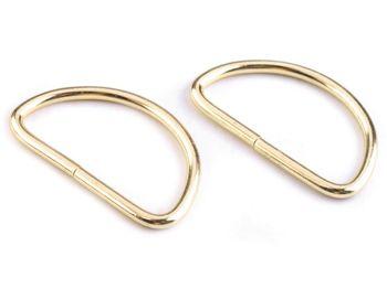Inel metalic tip D, 38 mm, auriu