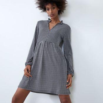 Платье ZARA Черно-белый zara 0219/905/064