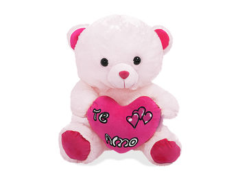 Игрушка мягкая Медведь с сердечком, 40cm