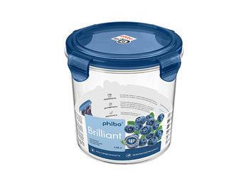Container hermetic Phibo Brilliant 1.15l, D14cm inalta, albastru