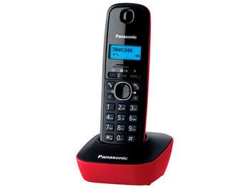 Dect Panasonic KX-TG1611UAR, Red, AOH, Caller ID (telefon fara fir DECT/ DECT телефон)